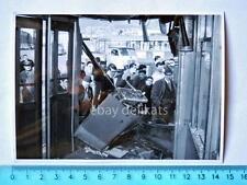 Vecchia foto TRAM TRAMWAY Trieste motrice incidente autobus bus camion