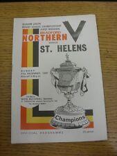 21/12/1980 programma Rugby League: BRADFORD Northern V St. Helens. grazie per V