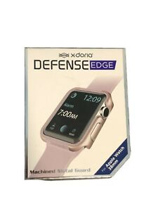 Xdoria Defense Edge for Series 1, 2 & 3 Apple Watch 38mm - Rose Gold/Pink