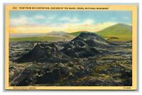 Big Crater Rim Craters of Moon Monument Postcard Posted Potlatch, ID Idaho 1947