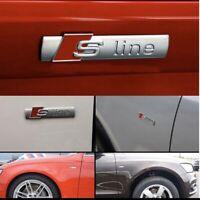 S-Line Emblem Matt Logo für alle Audi S-Line A1 A3 A4 A5 A6 A7 A8 Q2 Q5 Q7 Q8