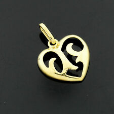 9ct Solid Yellow Gold Heart  Pendant - Gift Boxed