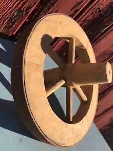ANCIENNE ROUE CHARRETTE BROUETTE JEUX ANCIEN EN BOIS /METAL