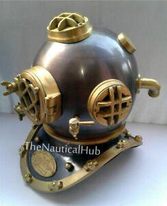 "Antique Vintage 18"" Diving Helmet US Navy Mark V Deep Sea Divers Helmet Replica"