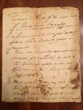 1822 Manuscript N. Carolina Rocky River Cavalry, Kings Mountain Rev War Veterans