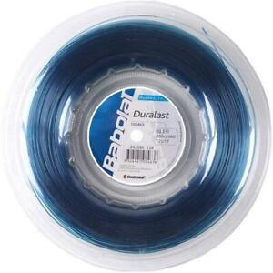 New BabolaT Duralast 125/17 200M Reel Tennis string Blue