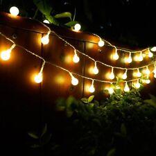 33ft 100 LED Electric Garden Outdoor Festoon Globe Bulb Balls Lamp String Lights