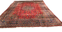 Old Hand Knotted wool rug isfah 1390