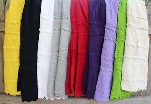 "Mexican ""Pico"" Skirt Grp #2 100% Cotton Falda - Frida Style Hippie Boho Cowgirl"