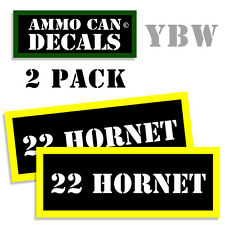 22 HORNET Ammo Label Decals Box Stickers decals - 2 Pack BLYW