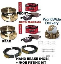 FOR CHRYSLER 300C FRONT + REAR BRAKE DISCS + PADS + HAND BRAKE SHOES + FITTING