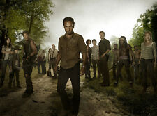"""The Walking Dead 1 2 3 4  TV Zombie Fabric poster 17"""" x 13"""" Decor 65"""