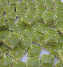 100pcs - 110grams Micro Ceramic Mosaic Tiles Lime GF1