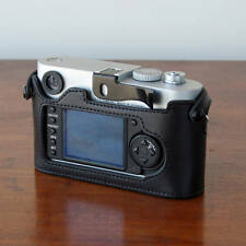 Mr. Zhou Black Leather Half Case for Leica M8 M9 M9P Accommodates Thumbs Up Grip
