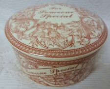 Vintage England Signed Spode For Someone Special Porcelaine Jewelry Trinket Box