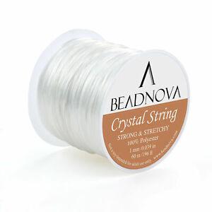 Crystal Elastic Stretch String Jewelry Making Beading Bracelets by BEADNOVA 1mm