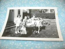 KIDS BIRTHDAY PARTY CAKE CANDLES BICYCLE 1940'S VINTAGE LOT OF 2 PHOTO SNAPSHOT