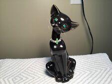 Brinn's  Black Cat With Rhinestones