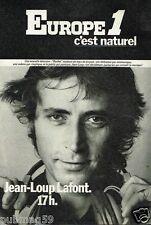 Publicité advertising 1977 Radio Europe 1 avec Jean-Loup Lafont