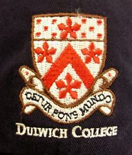 DULWICH COLLEGE youth med hat London cap England embroidery UK coat of arms