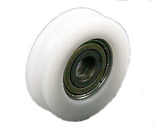 8*30*10mm 608zz U Groove Guide Pulley Sealed Rail Ball Bearing Nylon Embedded 4P