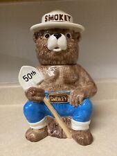 Vintage 1994 50th Anniversery Smokey The Bear Cookie Jar Treasure Craft