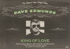 24/3/90Pgn15 Advert: Dave Edmunds The Rockin New Single king Of Love 7x11