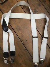 Mens Braces In White, Adjustable. In Very Good Condition