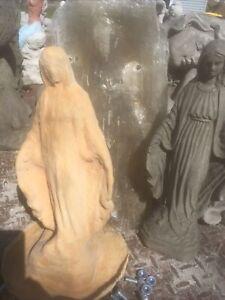 Homemade Latex/fiberglass-mold Concrete Lady Madonna Virgen Mary