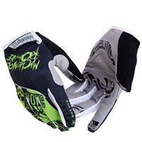 Cycling Gloves Bike Bicycle GEL Full Finger Gloves Shockproof Green