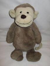 """Jellycat Bashful Bashful Monkey Brown & Tan Plush Stuffed Animal Lovey 12"""""""
