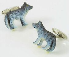 Grey Wolf Cufflinks with Crystal Eye NEW in Gift BOX   13645