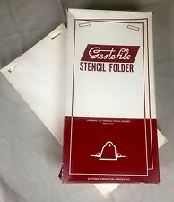 GESTEFILE Vintage Stencil Folders Print Duplicating Gestetner Machine Mimeograph