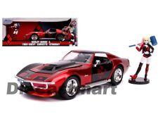 Jada 1:24 Hollywood Rides Harley Quinn & 1969 Chevy Corvette Stingray Red 31196