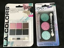 L.A. Colors Eyeshadow Applicator Water Lily Nite Out Color Palette Lot 2 New