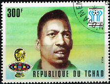 Thad Football Socker World Cup Famous Brazilian Player Pele stamp 1978