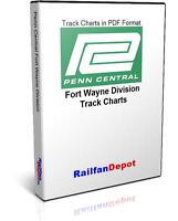 Penn Central Fort Wayne Division Track Chart 1973 - PDF on CD - RailfanDepot