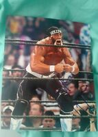 HULK HOGAN SIGNED 8X10 PHOTO WWE WWF  HULKAMANIA STRONG W/COA+PROOF RARE WOW