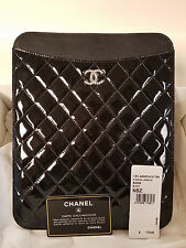 Authentic Black Quilted CHANEL Tablet or IPad Case
