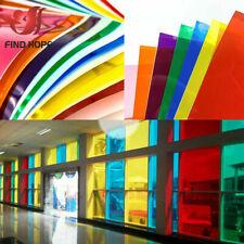 20*120cm Transparent Window Film Color Self Adhesive Stain Glass Decor Vinyl