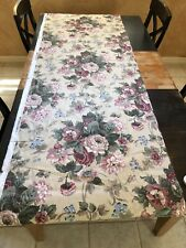 """8.5 yds. WAVERLY UPHOLSTERY FABRIC, ROSES COLLECTION ~ """"PEACE"""" ~ COTTON CHINTZ"""