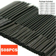150 PCS Black Heat Shrink Heatshrink Wire Cable Tubing Tube Sleeving Sleeve Wrap