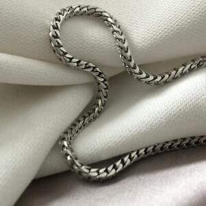 Silver Franco Chain - Men's chain sterling silver 925 Hallmark - Gift Boxed