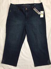 Gloria Vanderbilt Size 14 Jordan Jean Capri Pants Scottsdale Wash Denim NWT