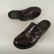 Women's Clarks Bendables Lexi Lilac Red Rouge Clog Mules Shoes 6 M 67364 Leather