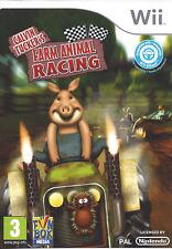 CALVIN TUCKER'S FARM ANIMAL RACING for Nintendo Wii - with box & manual - PAL