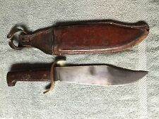 Vintage Western Boulder Colorado Large Fixed Blade Bowie Knife Wood Handle