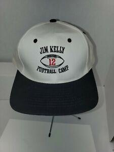 Jim Kelly Football Camp Buffalo Bills  White hat youth snap back lot b