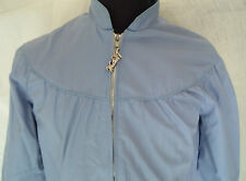 vintage outerwear weather tamer brand  zip up jacket  blue with draw string