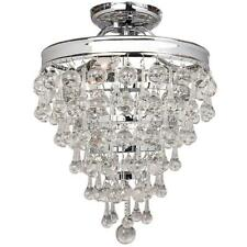 NEW!!  DECOR LIVING 3-LIGHT SEMI-FLUSH MOUNT - Metal Frame, Glass Drops
